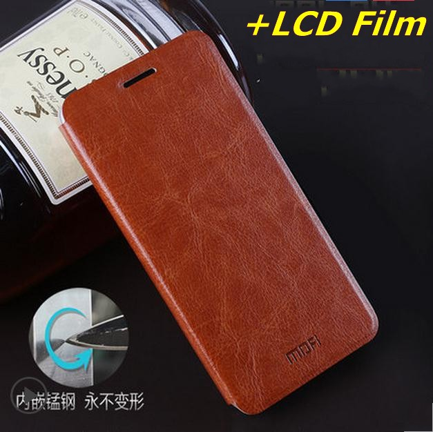 Mofi Leather Case Cover Xiaomi Redmi 2,Flip leather case + LCD Film Hongmi 2 stock - 2015 Special Offer store