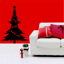 Vinyl Art Room Decoration Christmas Tree Decals Removeable Poster Beauty Mural Fashion Modern Ornament Mural LY553 цена