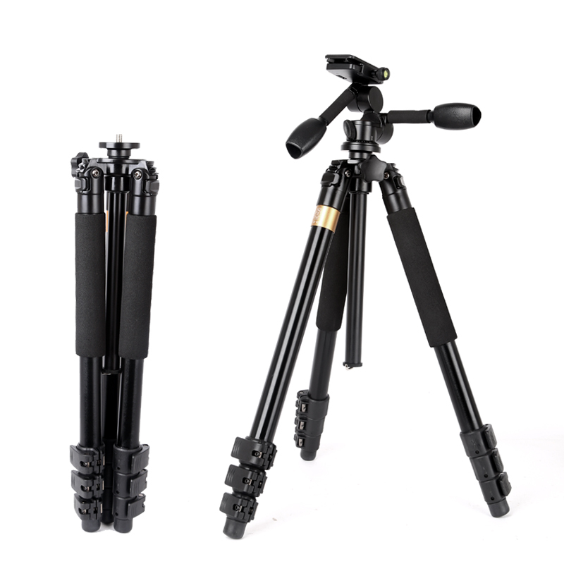 QZSD Q620 Professional DSLR Video Camera Tripod Panoramic Head Stable Heavy Camera Stand for Telephoto Lens