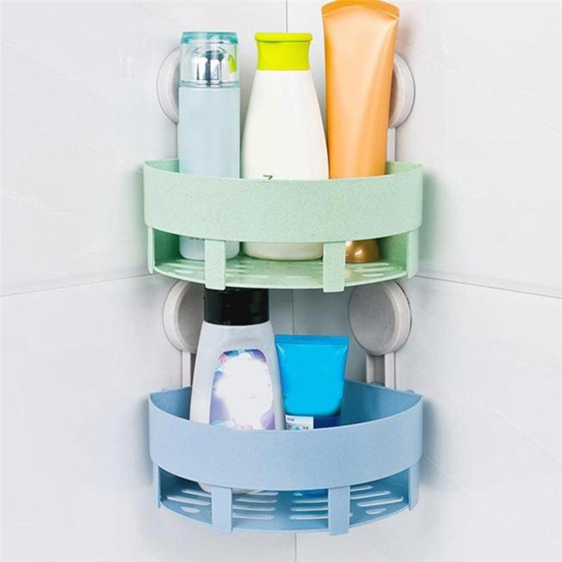 Plastic Suction Cup Bathroom Kitchen Corner Storage Rack Organizer Shower Shelf Waterproof Convenient hot sale Rack C0412#30