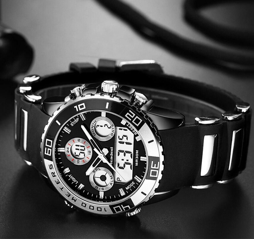 Reloj mujer hommes montres nouveau Readeel militaire sport étanche montre LED lumière choc numérique montres Relogio Masculino