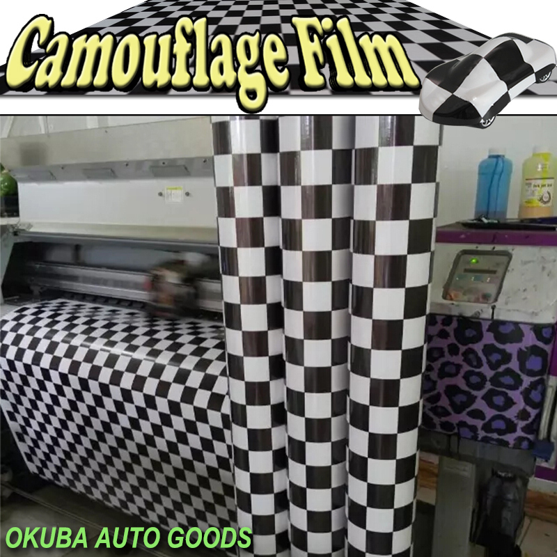Stickerbomb Vinyl Wrap Checker Racing Stripe Camo Vinyl