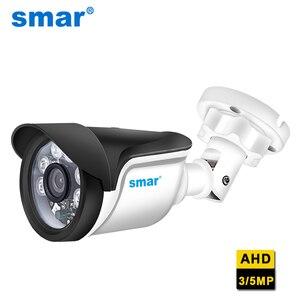 Image 1 - Smar New Super HD 3MP/5MP AHD Camera Waterproof 6* Nano IR LEDS Security Camera  AHDH System Video Surveillance With Bracket