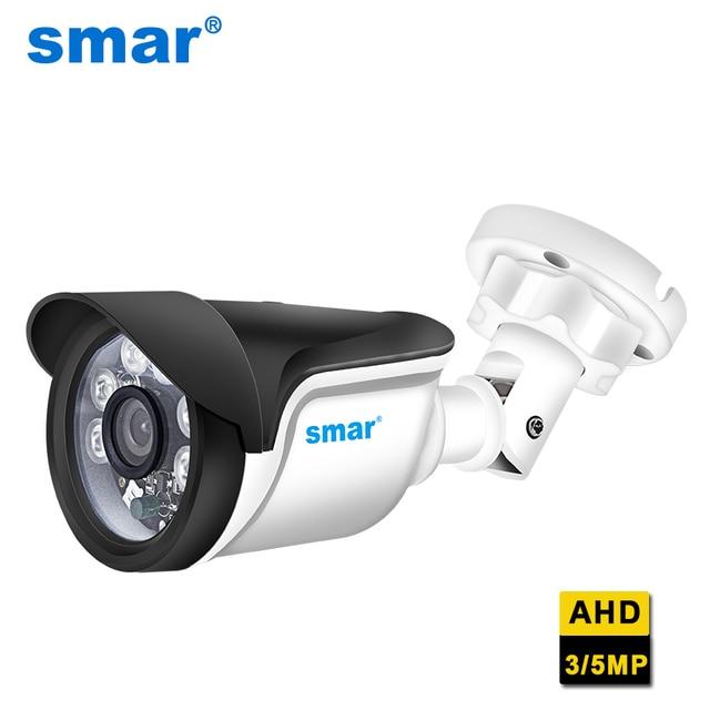 Smar New Super HD 3MP/5MP AHD Camera Waterproof 6* Nano IR LEDS Security Camera  AHDH System Video Surveillance With Bracket