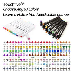Touchfive choose any 10 colors dual head alcohol sketch markers pen for manga drawing markers design.jpg 250x250