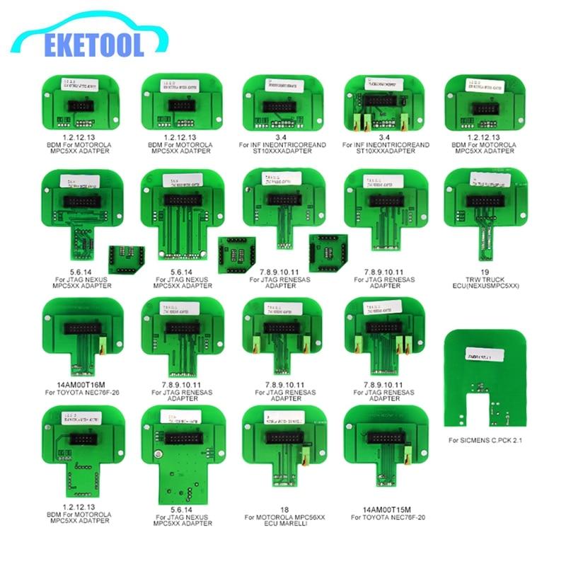 Mais novo 22pcs Sonda BDM Adaptadores Completas Para KTAG/KESS/KTM/Dimsport (Denso, Marelli, bosch, Siemens) BDM ECU Remap Ferramenta Programador