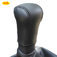 For Nissan Qashqai Manual Gear Cover Hand Stitched Genuine Leather Gear Shift Knob Cover