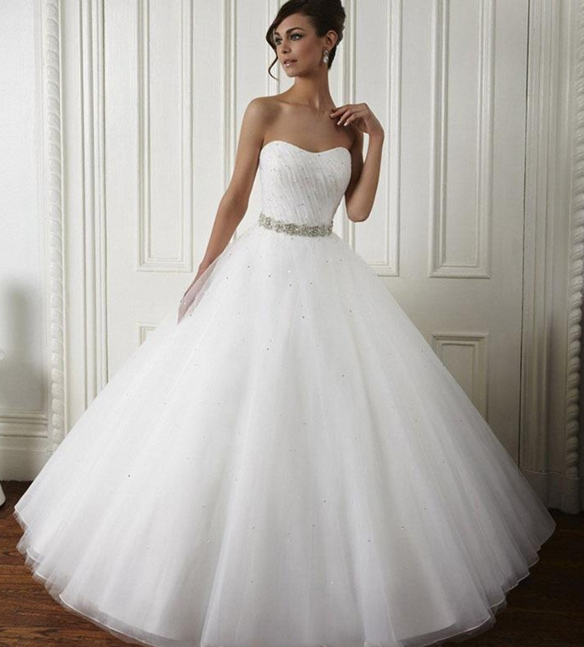 Gorgeous Popular Modern Puffy White Cheap Quinceanera