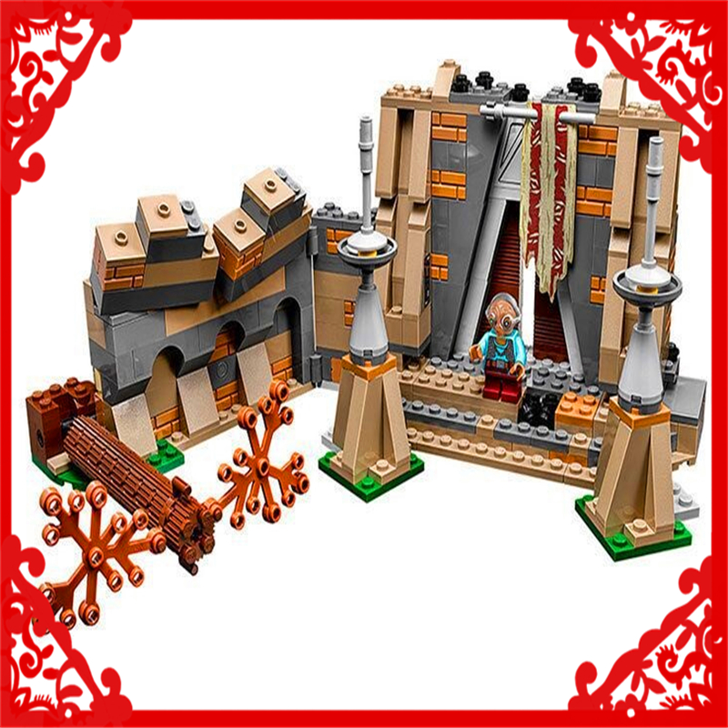 LEPIN 05009 Star Wars 7 Battle on Takodana Building Block 438Pcs DIY Educational  Toys For Children Compatible Legoe bela 10374 star wars 7 battle droid troop carrier 565pcs building block educational toys for children compatible legoe