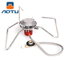 Triangle style Stove Portable Outdoor Camping Hiking Picnic Igniter Gas Stoves Burner Camping Equipment