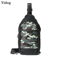 Tidog Male fashion camouflage casual chest bag