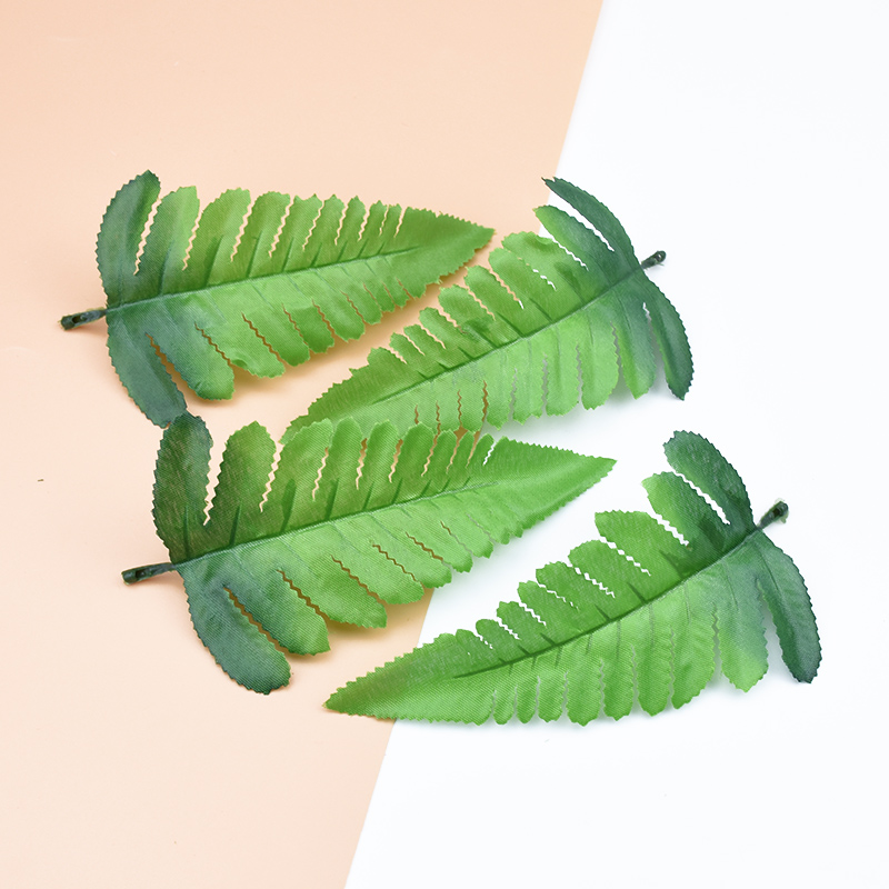 10pcs DIY Decorative Flowers Wreaths Wedding Home Decor Accessories Artificial Plants Silk Leaf Gifts Box Fake Leaves Needlework