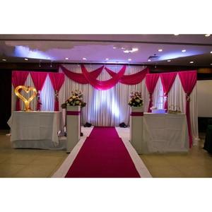 Image 3 - 1 סט רקע שלב וילון פנינה קרח משי בד וילונות DIY כיסוי רעלה לחתונה מסיבת מכירה לוהטת