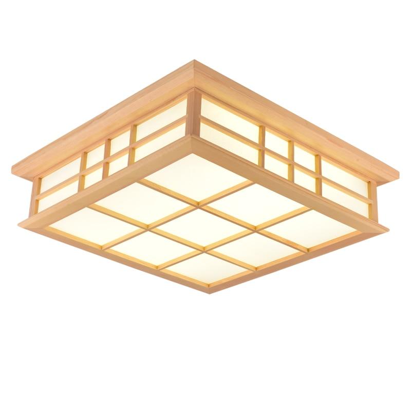 Japanischen Stil Tatami Lampe Solide Holz Platz Led-deckenleuchten Wohnzimmer Schlafzimmer Beleuchtung Studie Lampen Mz7 Mx01081122 Deckenleuchten & Lüfter Deckenleuchten