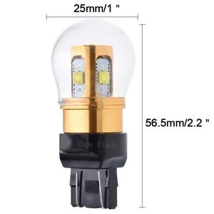 Image 2 - 2Pcs T20 W21W LED WY21W W21/5W 7440 7443 LED Bulbs T25 3157 P27/7W XBD Chips Auto Lamp White Red Amber Car Light LED 10V 30V DC
