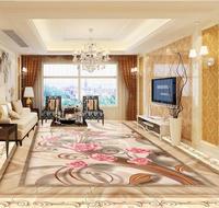 Custom 3d Floor Art Hd Rose Wallpaper 3d Floor Photo Mosaic Roses Waterproof Self Adhesive 3d
