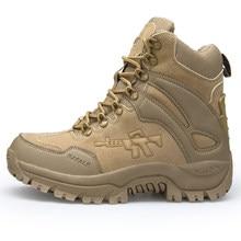 DUDELI-botas militares de combate para hombre, botines tácticos de gran tamaño, botas de seguridad para motocicleta