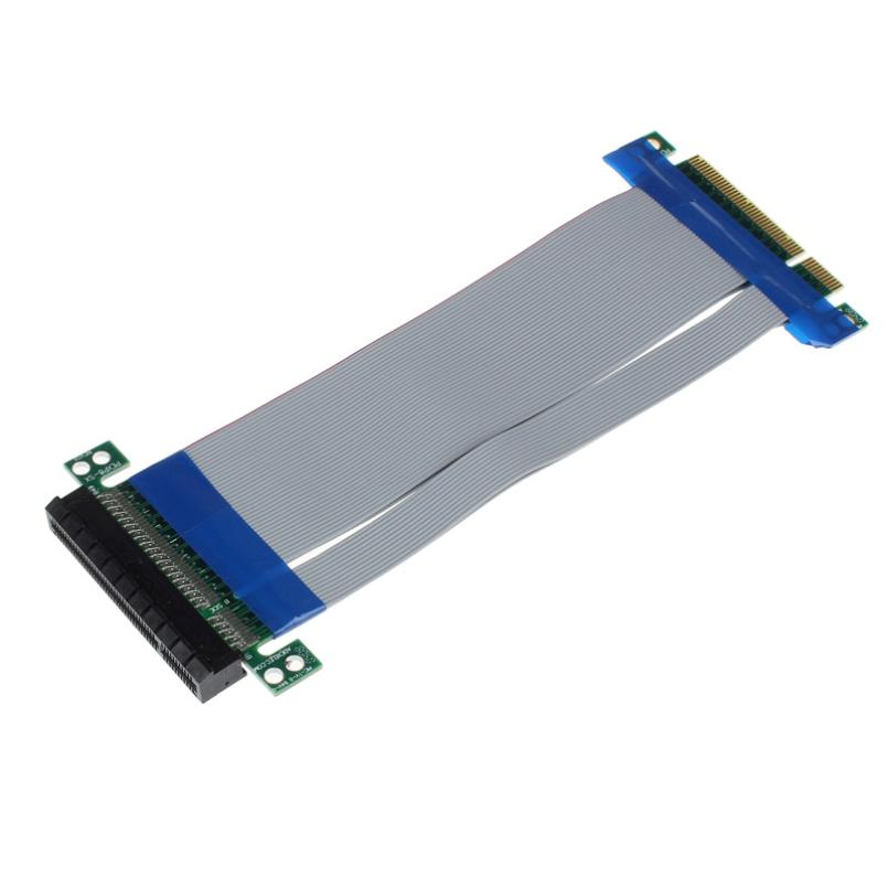 Good Sale PCI-E Express 8X Riser Card Extender Extension Flexible Cord Ribbon Cable Drop Shipping & wholesale Jan 5