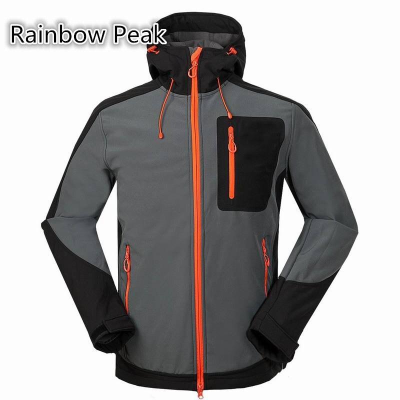 ФОТО High quality 2016 new Men's outdoor Composite velvet hiking Jacket Soft Shell Jacket Windproof Waterproof coat Windbreaker #1650