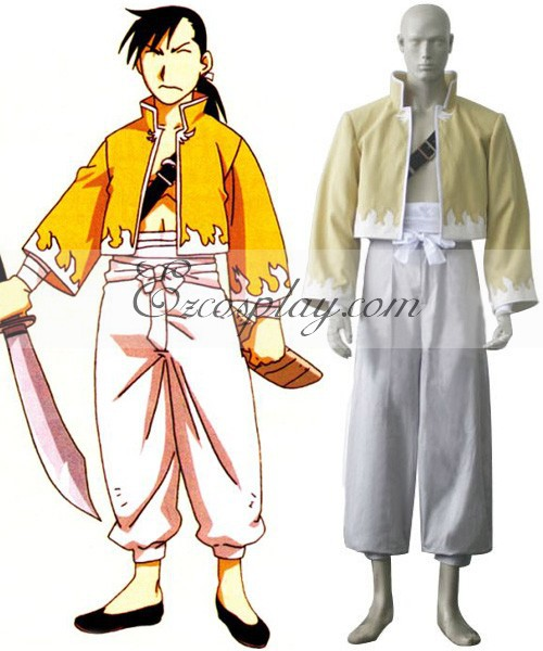 Fullmetal Alchemist Ling Yao Cosplay Costume E001-in Anime