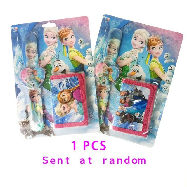 Children Watch Kitty Elsa Princess Sets Cartoon Kids Part Set Watches Wallet 3D