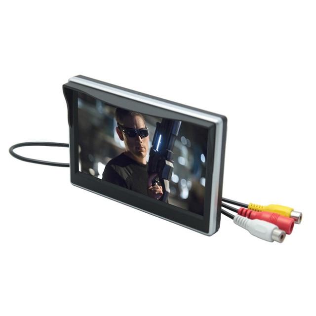 Digital TFT LCD Full HD two-way AV na prioridade 5 polegada Monitor Do Carro De Backup reversa câmera de Visão Traseira