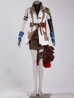 Final Fantasy FF XIII 13 Lightning Cosplay Costume Dress Coat Uniform Outfit Set