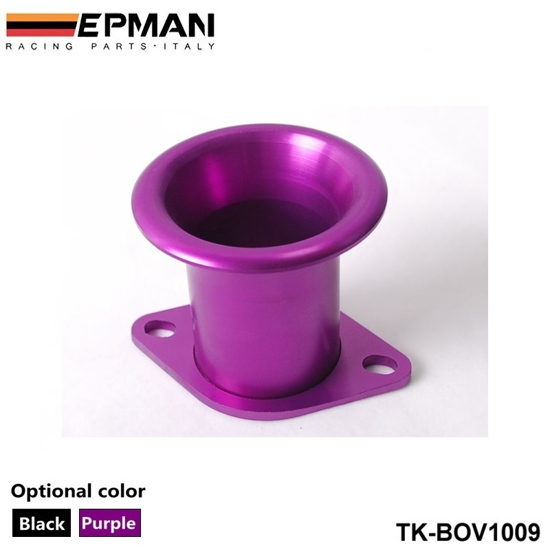 Alumínio turbo flange turbo inlets-bov botton roxo preto TK-BOV1009