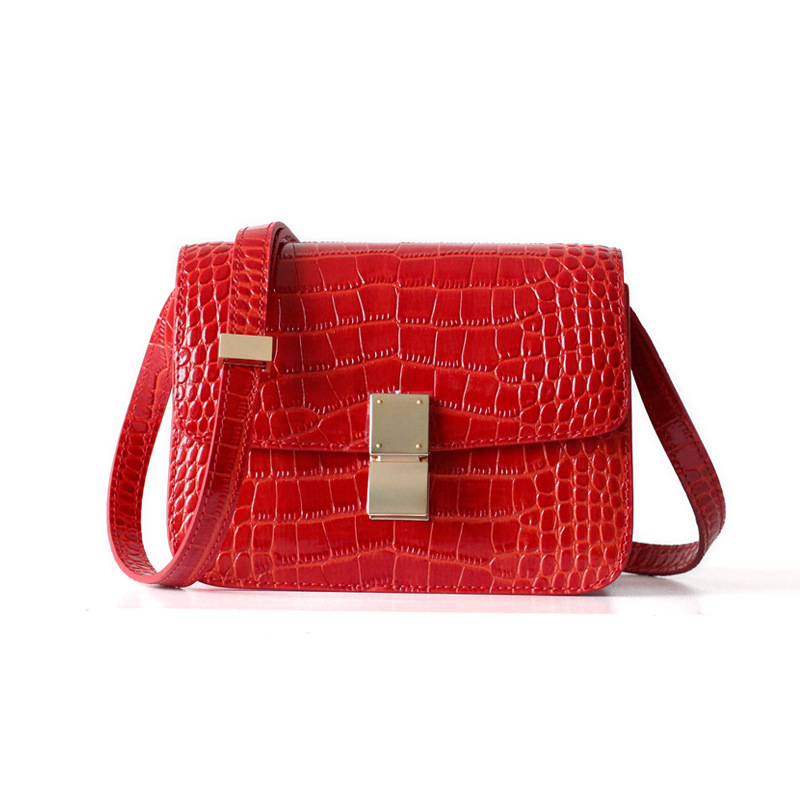 Genuine Leather Handbags For Women Alligator Fashion Famous Luxury Brands Designer Style Shoulder Bags Crossbody Bags Box Bag цена
