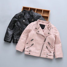 Leather Jacket for Baby Girls Clothes Motorcycle Jackets for Boys Leather Coat Kids Fashion Outerwear