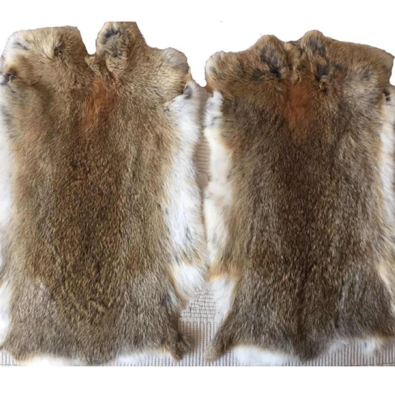 Natura Reale Genuino della Pelliccia Del Coniglio di Vendita Da Tutto il Pezzo Fluffy Coniglio di Cuoio Della Pelliccia Decorazione Della Casa Accessori di Abbigliamento di Alta Qualità