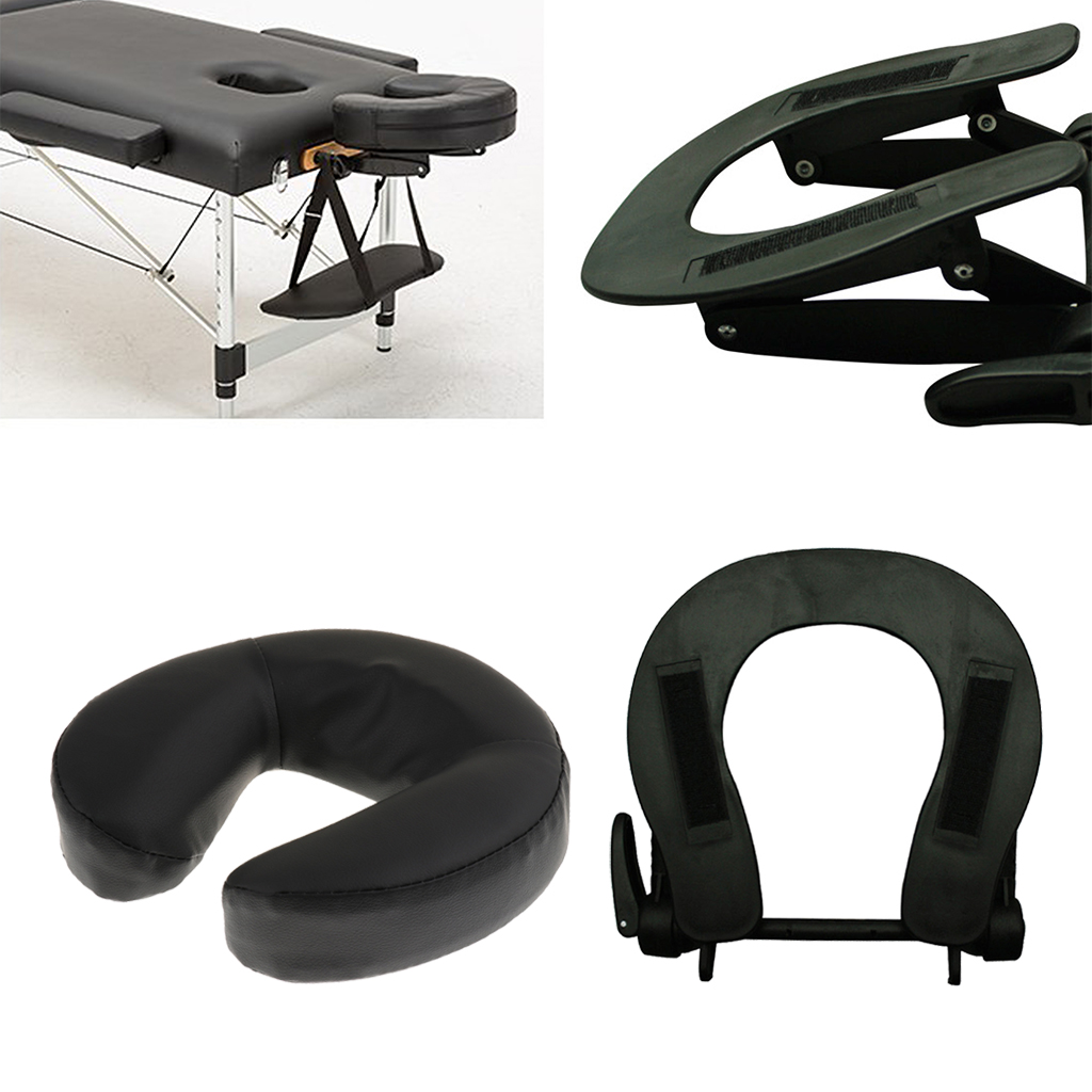 Comfort Adjustable Face Cradle for Massage Table with Massage Standard Face Cushion Pillow for Spa Massage Table Bed