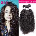 Malaysian Kinky Curly 100% Unprocessed Human Hair Weave 7A Malaysian Virgin Hair Annabelle Hair 3 Bundles Curly Virgin Hair