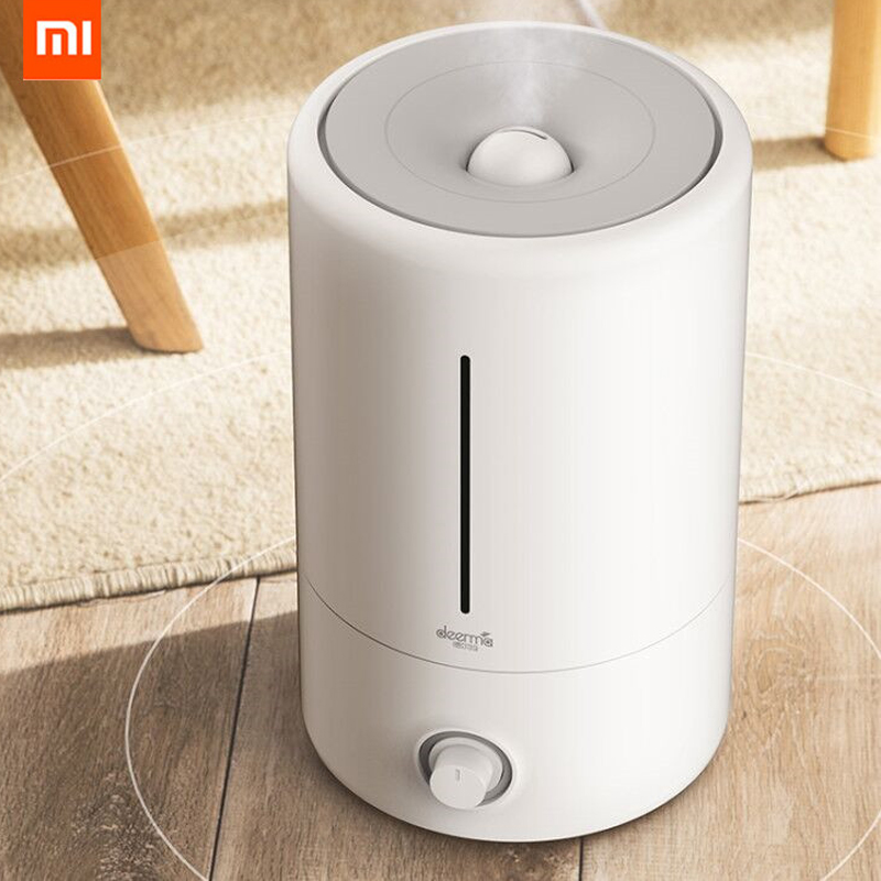 shop with crypto buy Xiaomi Deerma 5L Air Humidifier Household Ultrasonic Diffuser Humidifier Aromatherapy Humificador For Office Home pay with bitcoin