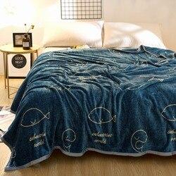 Svetanya 230x250cm Cartoon Throws Blanket Fleece Fabric Sheet Bedspread Multi-Size