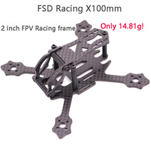 FSD Racing X100 100 มม.2 นิ้วWhoop Super Light 3Kคาร์บอนไฟเบอร์FPVกรอบRC DroneสำหรับGemfan 2036 Prop F4 FC 11XXมอเตอร์EOS 2