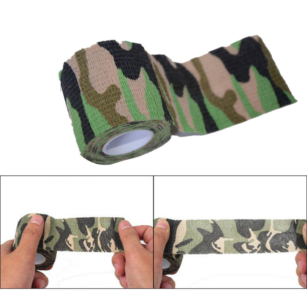 Self Adhesive Bandages Camouflage Camo Elastoplast Wrap Stretch Adherent Tape For Wrist Ankle Slices Sports Safety