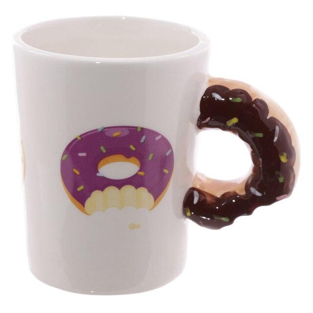 1 Stück Die Donut Becher Köstliche Rosa Zuckerglasur Schokoladenmusik Donut  Kaffeetasse Neuheit Milch Becher Teetasse Beste Geschenk IdeeUS $10.67