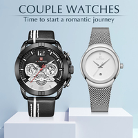 Couple Watch NAVIFORCE Men's Watches Top Brand Luxury Quartz Watch Men and Women Clock Fashion Casual lovers Watch Set for Sale