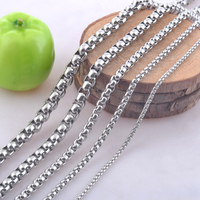 Free Shipping 2 6mm Width 316L Stainless Steel Link Chain Necklaces Men Fashion Chains Jewelry The
