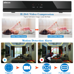 Image 4 - Видеорегистратор KKmoon 4CH AHD DVR H.264 HDMI1080P P2P Onvif, 4 канала, AHD NVR, цифровой видеорегистратор для системы видеонаблюдения