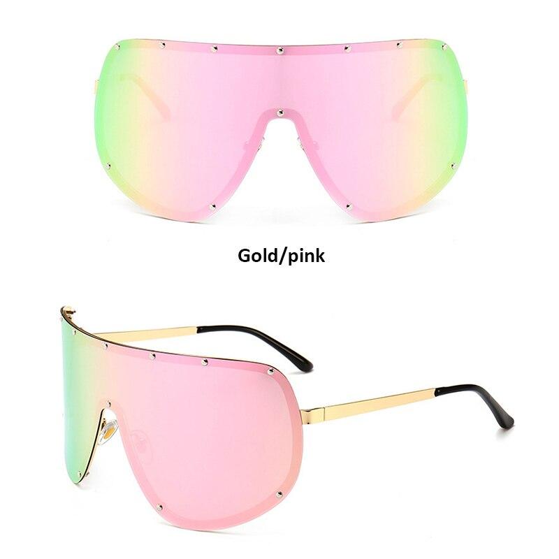 40f92d5353 Fashion Oversized Big Huge Mask Shield Half Face Polarized Large Sunglasses  Brand Designer Oversize Female Sun Glasses
