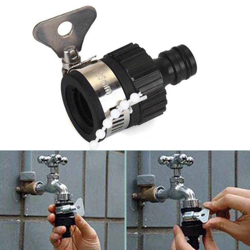 Black Garden Water Hose Tap Connectors Universal Adapter Faucet for ...