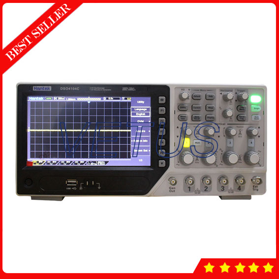 DSO4104C Hantek Digital 4 Channel Oscilloscope with high resolution 7 inch 64K color TFT portable oscilloscopes image