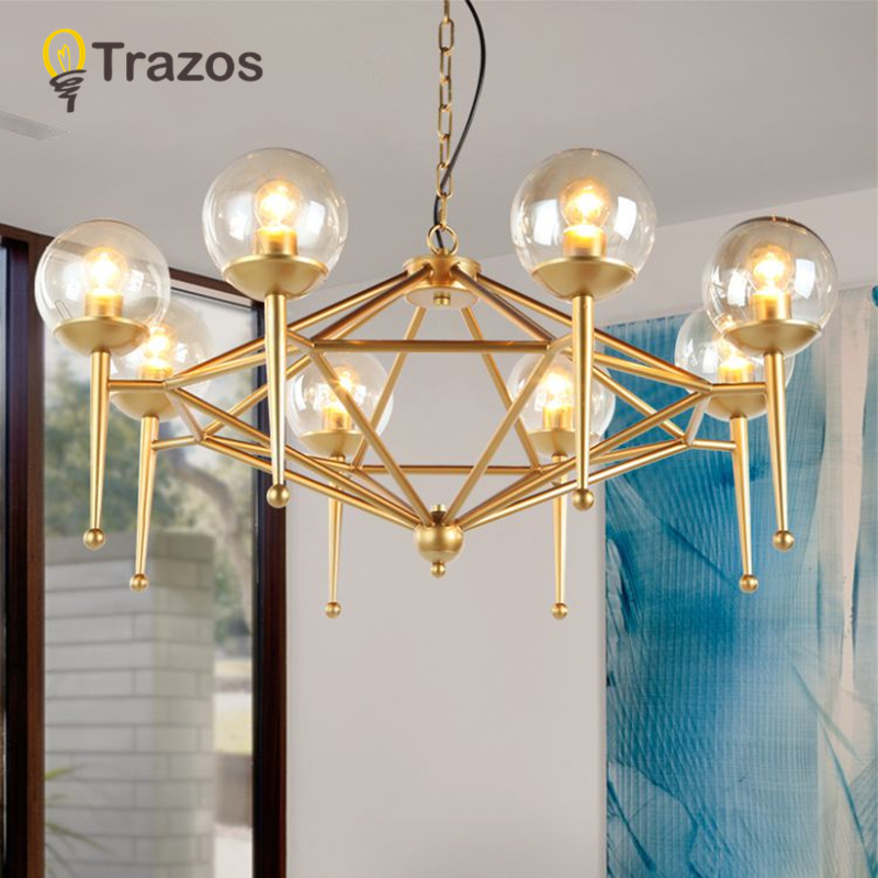Lustre Chandelier For Living Room bedroom Hanging ceiling Lights Grass Luminaria Fixtures Iron shade E14 Lamparas Colgantes