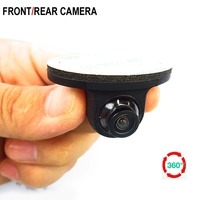 MiNi 3 Glass Lens Rotation HD CCD 360 Degree Panoramic Camera Front Side Rear View Camera For LCD TFT Parking Monitor
