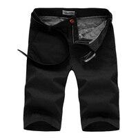 2017 men's casual shorts cotton solid Korean slim knee length summer style beach men shorts