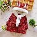 2 pcs Roupa do bebê e cachecol de inverno bebê outerwear espessamento bebê menina jaquetas wadded com capuz trincheira bebê algodão clothesack