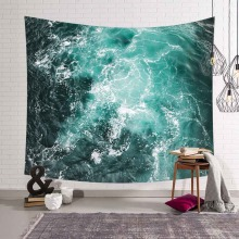 Beach Sea Wave Scenery 3D Wall Tapestry Yoga Towels Digital Printig Living Room Bedroom Wall Hanging Tapestries Home Decorations