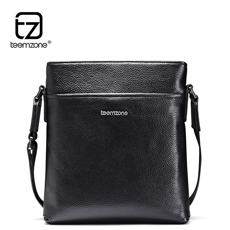 New Trend Sale Men's Genuine Leather Business Casual Messenger Shoulder Bag Tablet Satchel Cross Body Book Bag Black T0985 new trend sale men s genuine leather business casual messenger shoulder bag tablet satchel cross body book bag black t0985